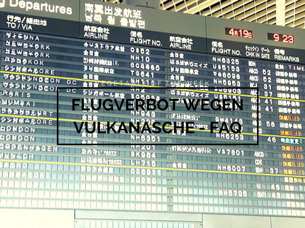 Flugverbot wegen Flugasche