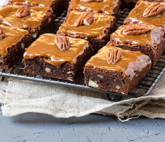 Brownies mit Karamell