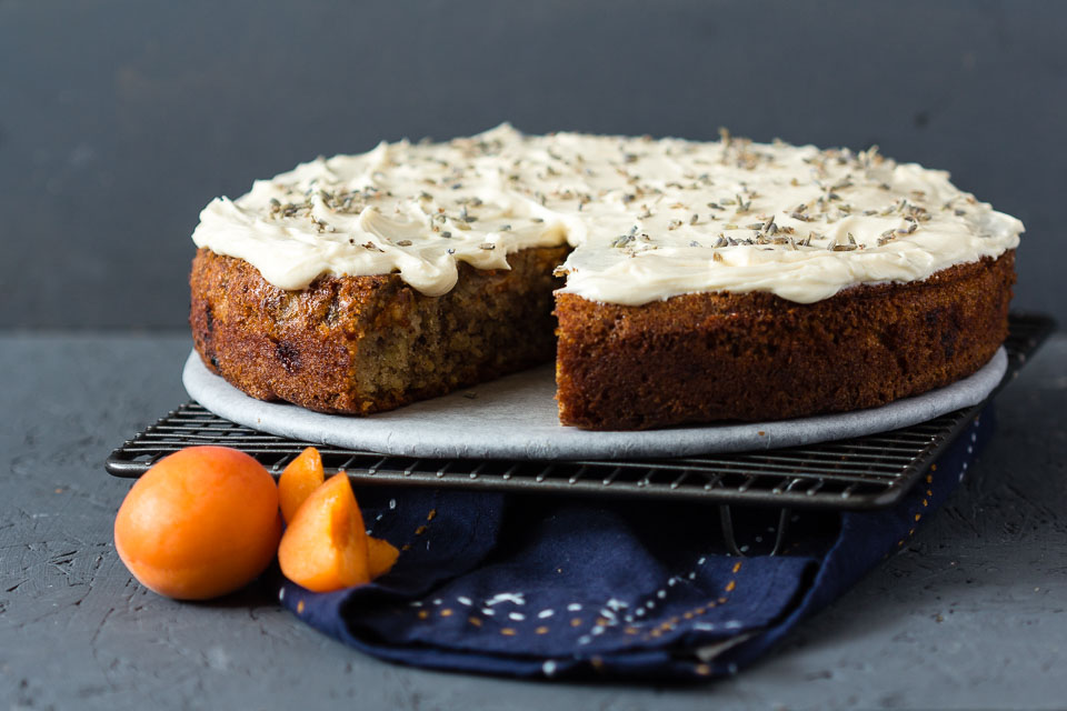 Aprikosen Lavendel Kuchen