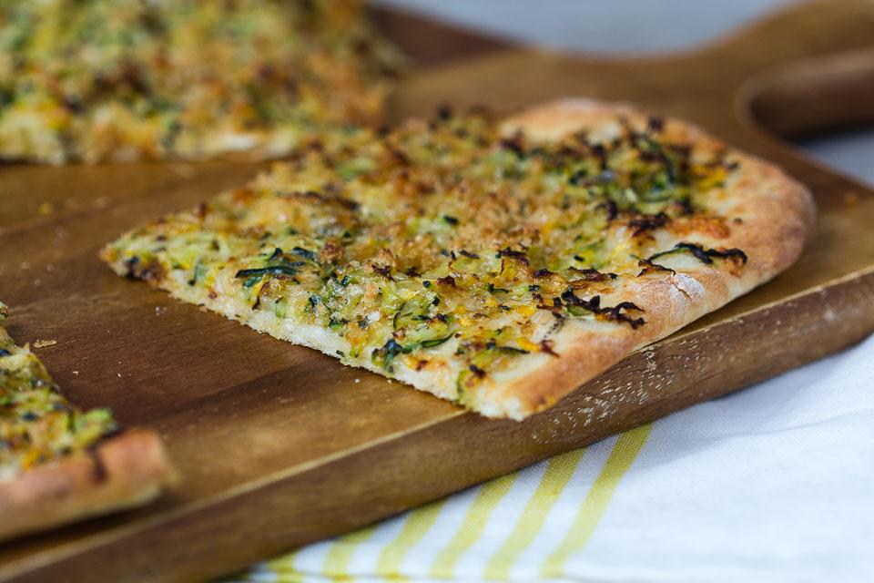 Zucchini Pizza via lunchforone