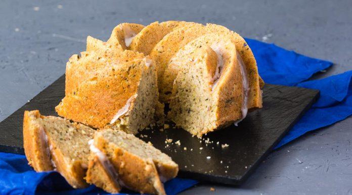Zucchini Zitronen Kuchen via lunchforone