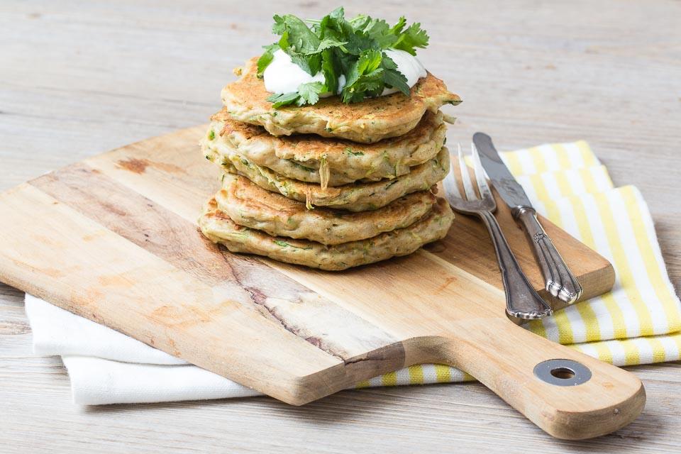 Zucchini Pfannkuchen via lunchforone