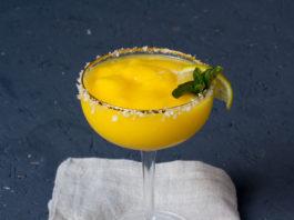 Frozen Mango Margarita via lunchforone