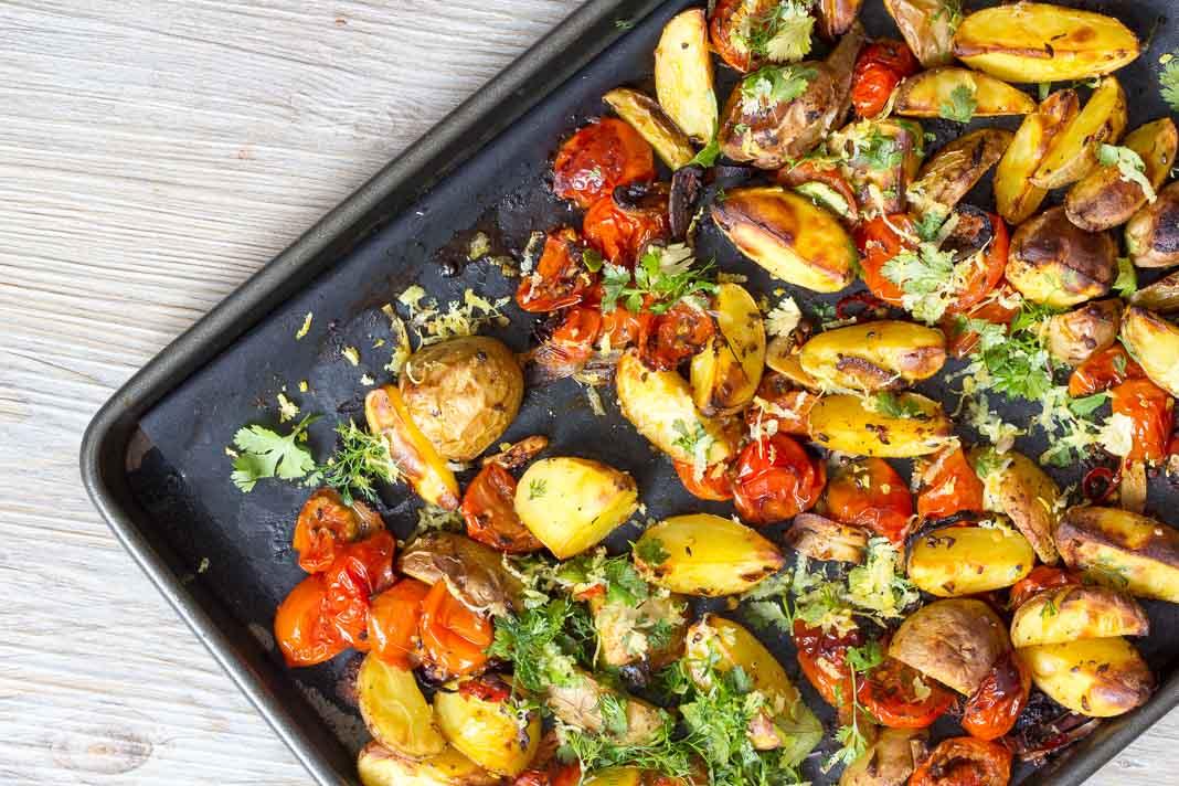 Geröstete Kartoffeln aus dem Ofen via lunchforone